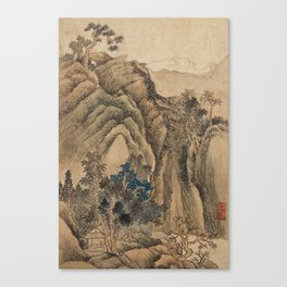 LANDSCAPE PAINTINGS IN THE STYLE OF WANG HUI (1632-1717), QING DYNASTY, 19TH CENTURY Canvas Print