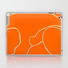 Lined - Orange Laptop & iPad Skin