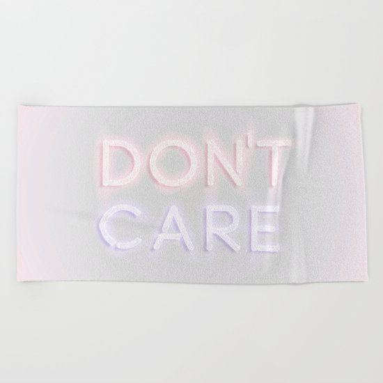 Don't Care Beach Towel