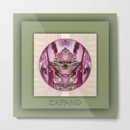 Expand Manifestation Mandala No. 8 Metal Print