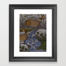 Swamp Rabbit's Reedy River Race Framed Art Print