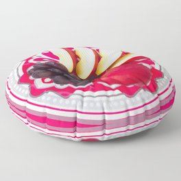 Plate of apples and grapes Floor Pillow