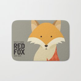 Hello Red Fox Bath Mat