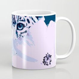 Behind the scenes - big cat hiding behind the flowers - lovely colors Coffee Mug