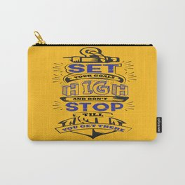 Set your goals high Bo Jackson Inspirational Sports Typographic Quote Art Carry-All Pouch