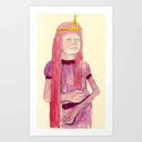 princess bubblegum Art Prints featuring Princess Bubblegum by withapencilinhand