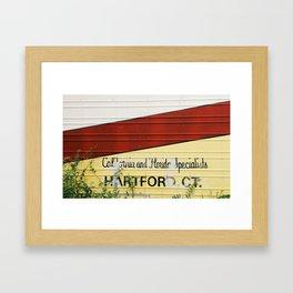 Red Stripe Framed Art Print