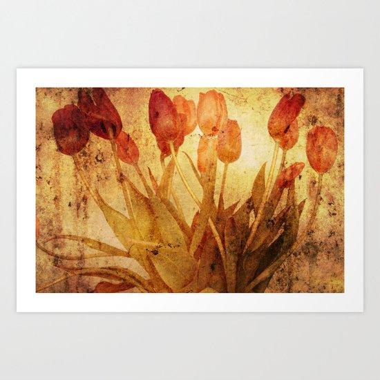 Tulpen Treffen Art Print