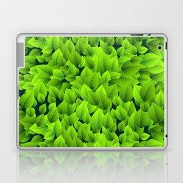 Green leaves pattern Laptop & iPad Skin