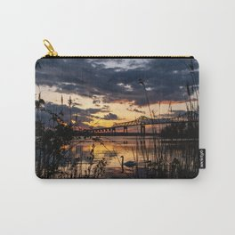Sun sets on the bridge Carry-All Pouch