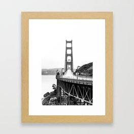 Golden Gate Bridge Black and White Framed Art Print