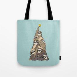 Christmas Tree  Sloths Tote Bag