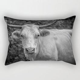Stare at the bull, get the horns Rectangular Pillow