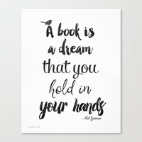 neil gaiman Canvas Prints featuring Neil Gaiman quote, Literary Quote by Good vibes and coffee