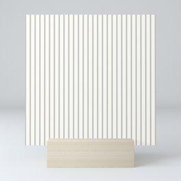Silver Moss Pinstripe on White Mini Art Print