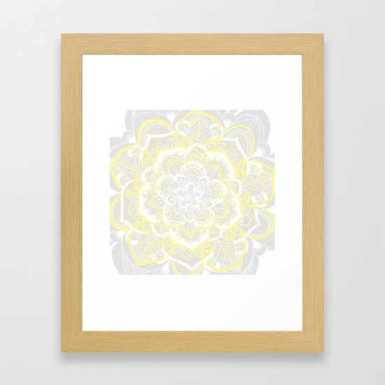 Woven Fantasy - Yellow, Grey & White Mandala by tangerinetane