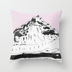 a mountain Throw Pillow