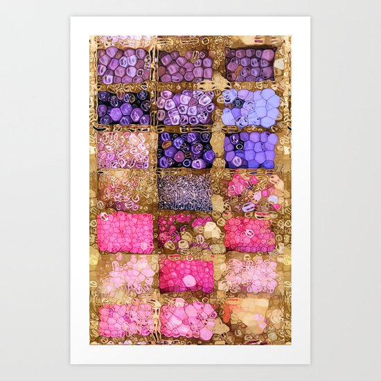 Pink Bling Kit Art Print