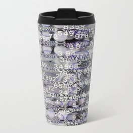 Post-Digital Tendencies Emerge (P/D3 Glitch Collage Studies) Metal Travel Mug