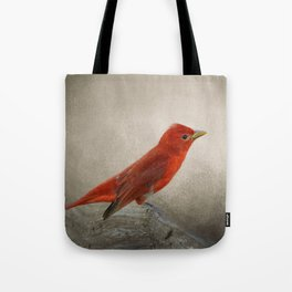 Song of the Summer Tanager 2 - Birds Tote Bag