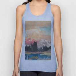 Storms over Keiisino Unisex Tank Top