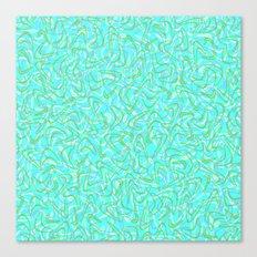Boomerang Aqua Canvas Print