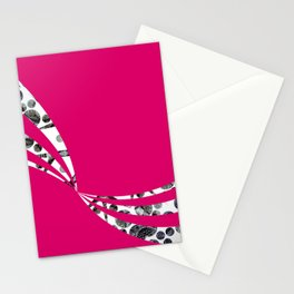 Dancing Stripes Stationery Cards