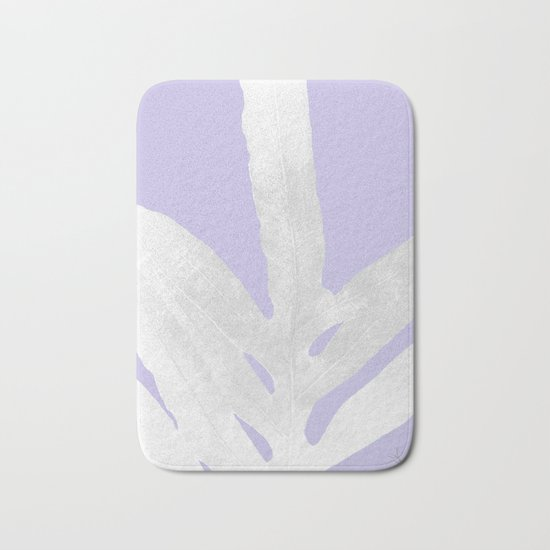 Green Fern on Lavender Inverted Bath Mat