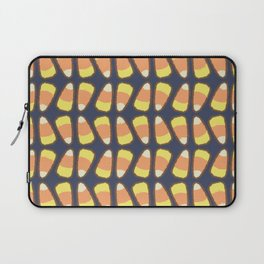 Candy Corn Tango in Navy Laptop Sleeve