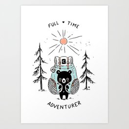 Adventure Bear Art Print