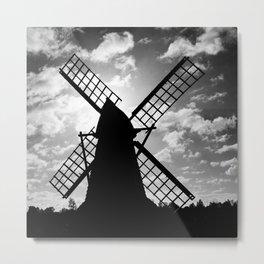 Moulin Noir Monochrome Metal Print