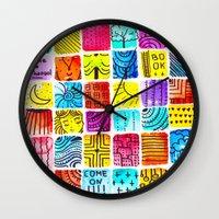 school Wall Clocks featuring School by Verismaya