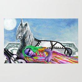 Unicorn and The Sleeping Robot Rug