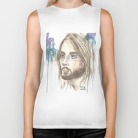 jared leto Biker Tanks featuring Leto by SirScm