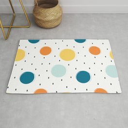 cute colorful pattern with grunge circle shapes Rug