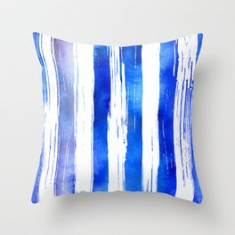 Wide painted stripes Throw Pillow