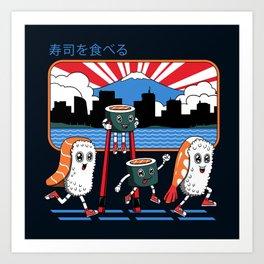 Tokyo Sushi Run Art Print