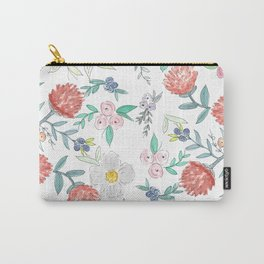Floral Watercolor Pattern  Carry-All Pouch