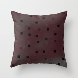 Vintage squares Throw Pillow