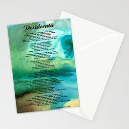 Desiderata 2 - Words of Wisdom Stationery Cards