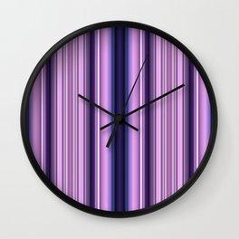 Purple/ pink stripes Wall Clock