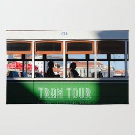 Lisbon Portugal tramway Rug