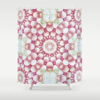 pomegranate Shower Curtains featuring Pomegranate by Truly Juel