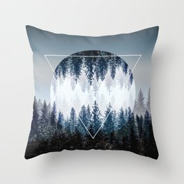 Woods 4 Throw Pillow
