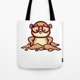 Funny Retro Groundhog Lover Gift design Tote Bag