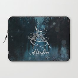 Adventure Is Out There Forest Lake Reflection - Nature Photography Laptop Sleeve