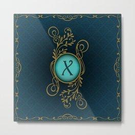 Monogram X Metal Print