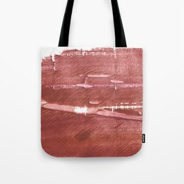 Red Brown nebulous wash drawing pattern Tote Bag
