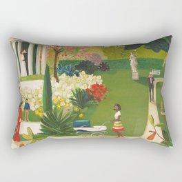 A Fainting In The Botanical Gardens Rectangular Pillow