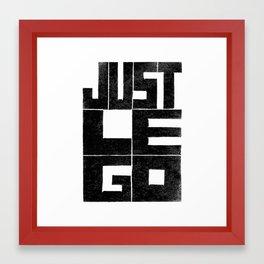 Just LEGO - by Genu WORDISIAC™ TYPOGY™ Framed Art Print